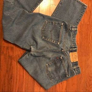 Vintage Worn Faded Levi's 501 Button Fly Jeans